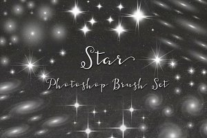 Star Photoshop Brush Set