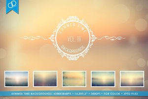 Summer Time Backgrounds VOL III.