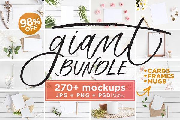 Mockups Giant Bundle - JPG/PNG/PSD