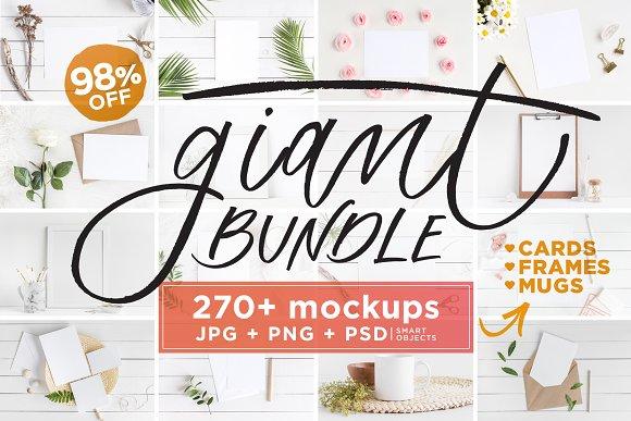 Mockups Giant Bundle - Over 270 Mockups with extended license $39
