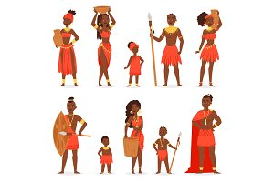 African people vector black man