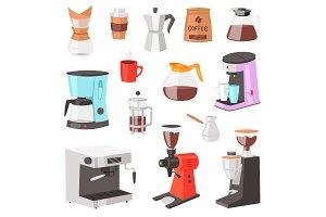 Coffee machine vector coffeemaker