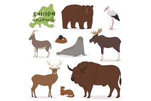 Animal vector animalistic character