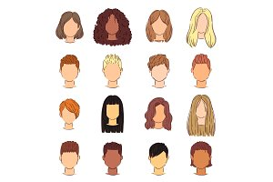 Hairstyle woman vector female