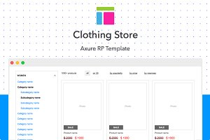 Axure template / Clothing store