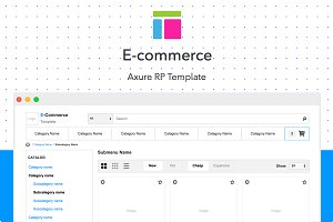 Axure template / E-commerce