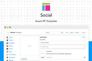 Axure template / Social