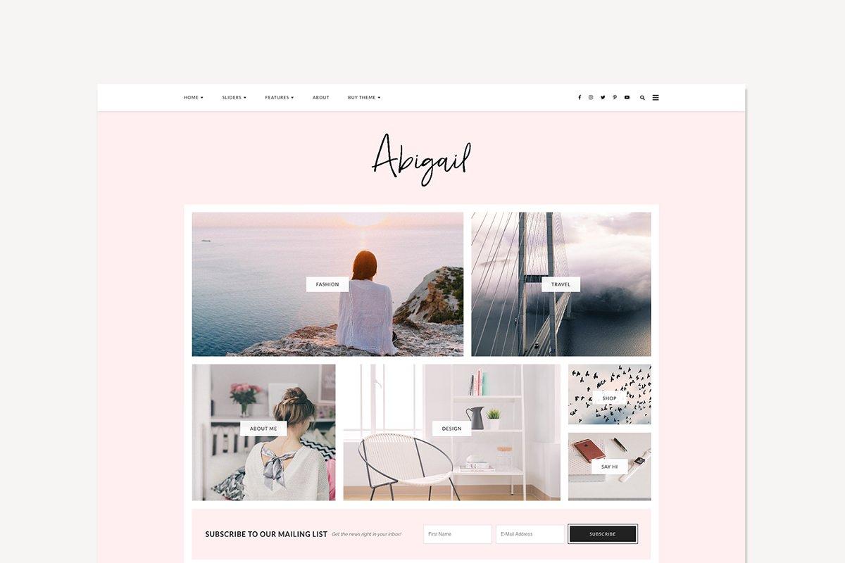WordPress Theme, Responsive, Abigail