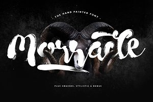 Morracle Brush Font + Swashes