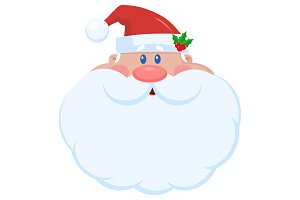 Santa Claus Cartoon Character Face