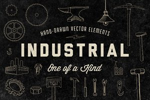 Hand-Drawn Industrial Elements