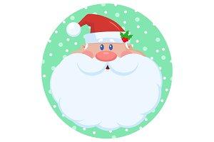 Santa Claus Character Face Portrait
