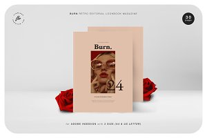 BURN Retro Editorial Lookbook Magz