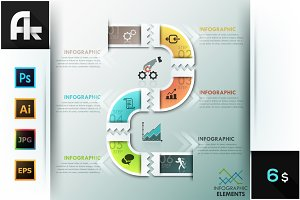 Modern Infographics Paper Template