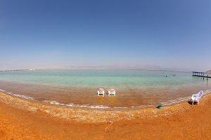 Medical beach on the Dead Sea, Israe