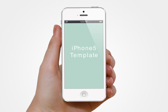 Hand with iPhone5 template ~ Templates ~ Creative Market