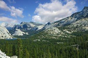 Valley in  mountain Yosemite