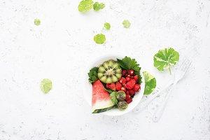 Fruit salad. Watermelons