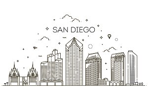 San Diego Linear Skyline