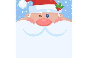 Winking Santa Claus Character