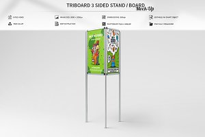 Triboard 3 Sided Stand/Board Mock-Up