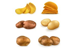 Potatoes and chips illustration