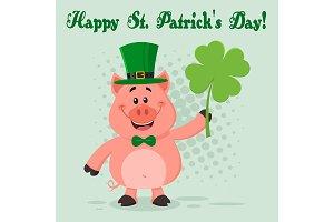 Happy Leprechaun Pig