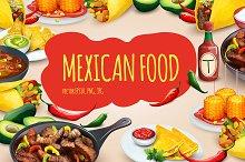 Mexican food. Vector set