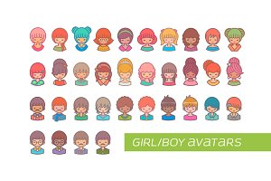 Girl/Boy Avatars