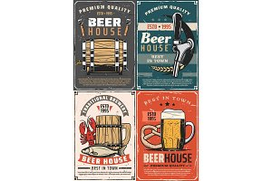 Brewery beer house retro posters