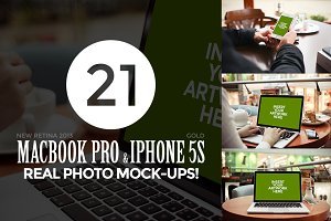 21 MacBook & iPhone Photo Mock-Ups!