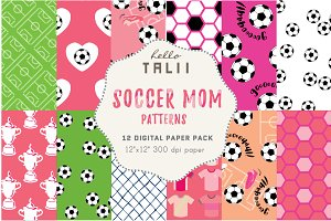 Soccer Mom Digital Paper