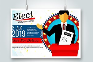 Cast A Vote Psd Flyer Templates