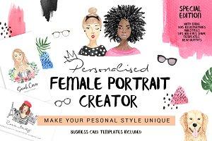 Watercolor portrait creator