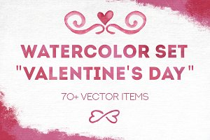 "Big vector ""Valentine's day"" set"