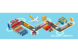 Isometric map of delivery service