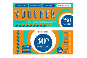 Bright gift vouchers with discount