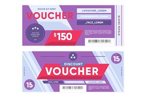 Trendy gift vouchers with discount