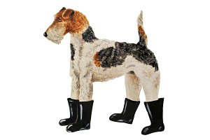 Fox Terrier In Boots Oil Painting