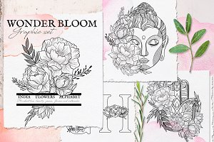 Wonder Bloom Graphic Set & Alphabet
