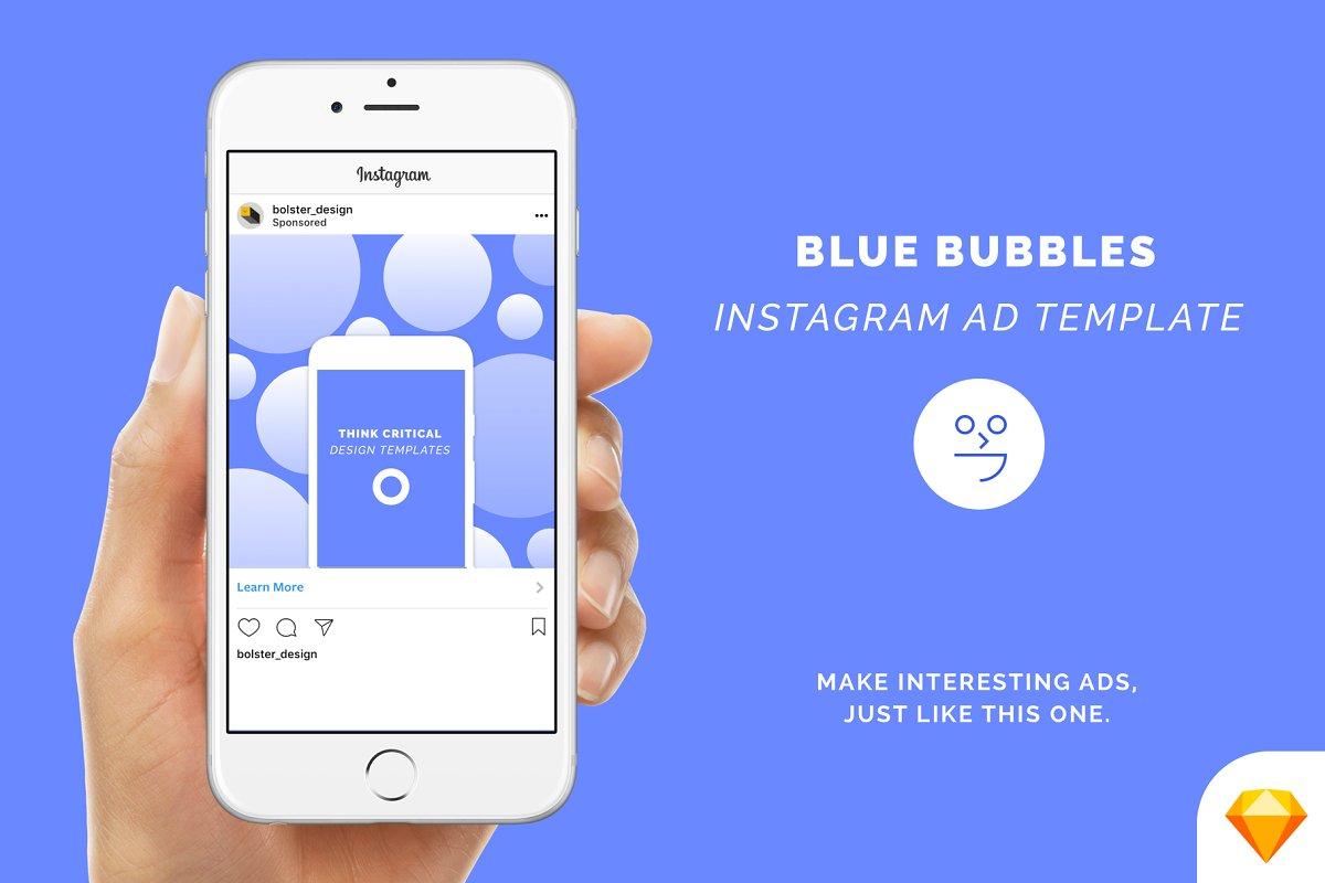 Blue Bubbles - Instagram Ad Template