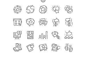 Votes Line Icons
