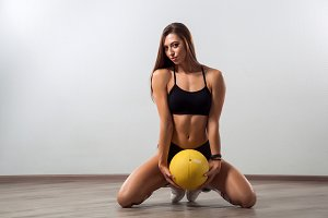 Young woman fitness model