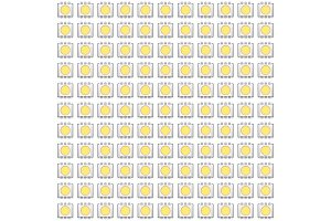 Set of typical LED seamless pattern