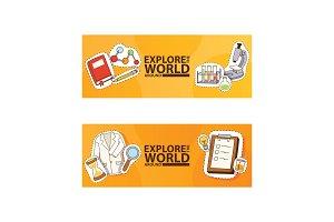 Explore the world around banners