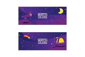 Watch the stars banners. Journey to