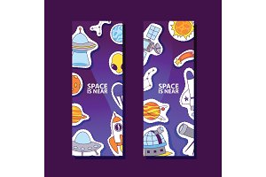 Space and planets stickers. Space is
