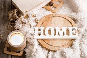 Items of cozy home decor