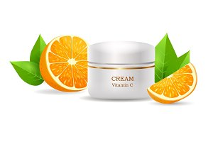 Cream with Vitamin C in Glossy Tube