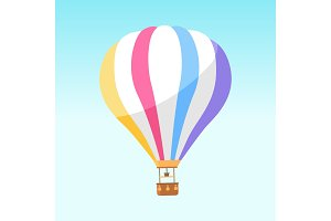 Airballoon with Colorful Stripes